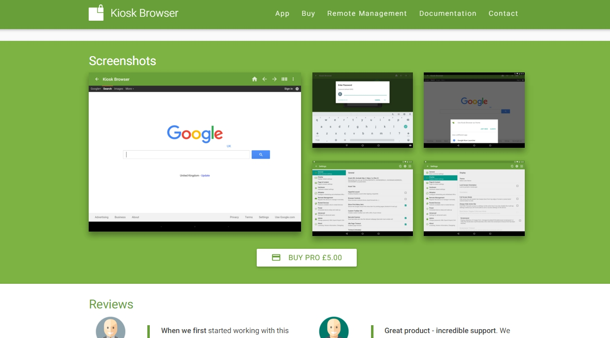Kiosk Browser Software for Android Kiosk Browser Lockdown for Android - Google Chrome